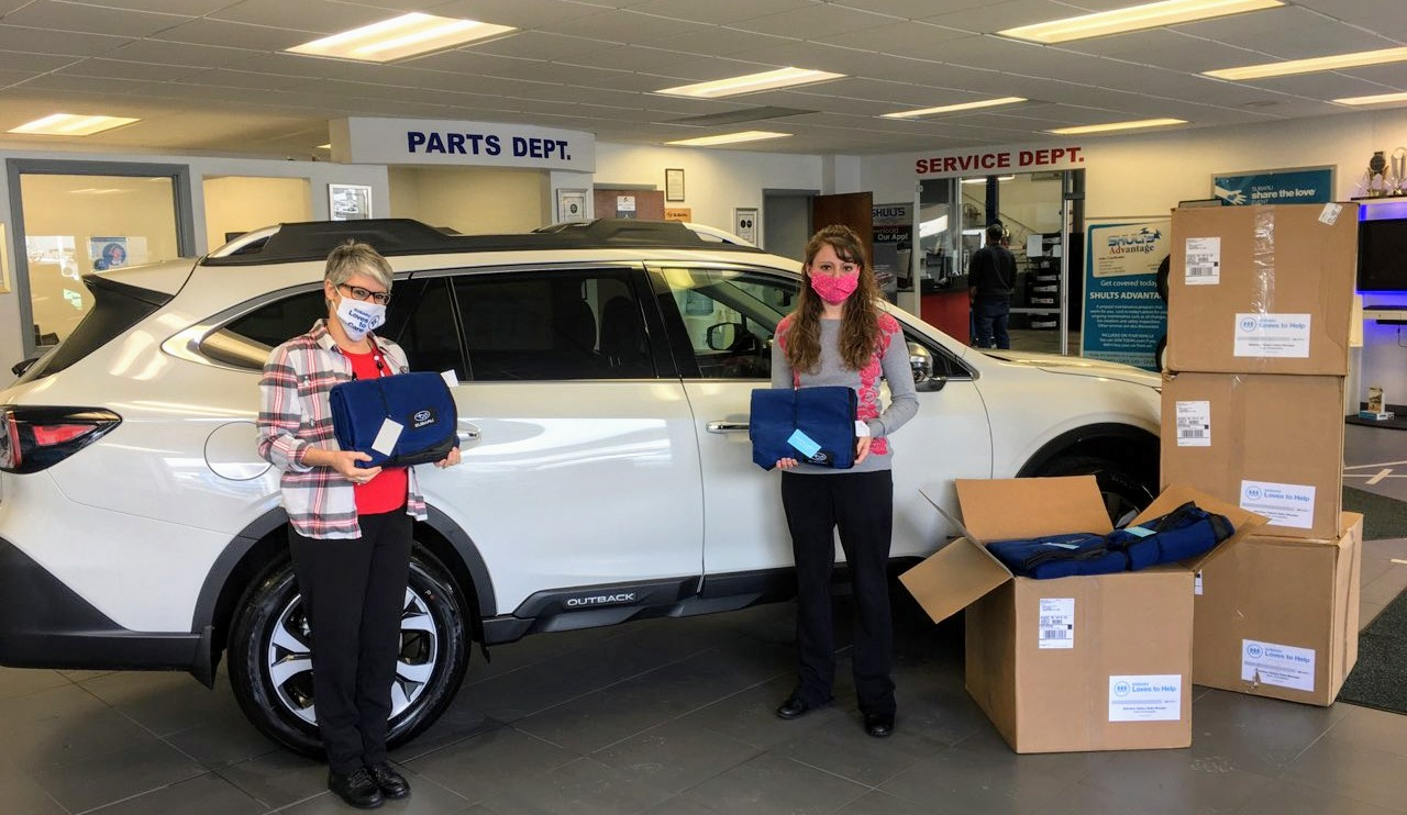COI receive donation of blankets from Shults Nissan Subaru of Jamestown, NY